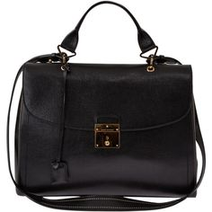Marc Jacobs Black 1984 Structured Leather Satchel found on Polyvore