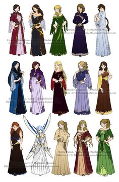 Dress n Clothes Designs: P3 - Different Kin Women by =MaddalinaMocanu on deviantART