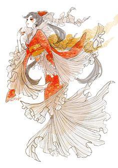 Pretty Art, Cute Art, Anime Manga, Anime Art, Mexican Artwork, Mermaids And Mermen, Identity Art, Merfolk, Slayer Anime