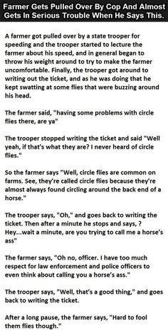 Farmer Gets Pulled Over By Cop - Then Says This To Him