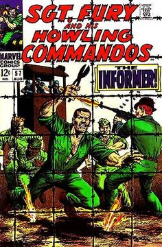 Sgt. Fury and His Howling Commandos # 57 Dick Ayers cover