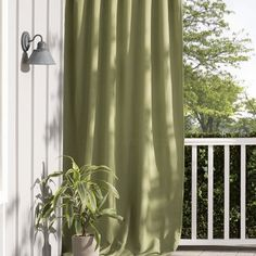 """Bay Isle Home Tiburon Indoor/Outdoor Single Curtain Panel Color: Green, Size: 52"""" W x 108"""" L"""