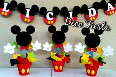 Birthday Themes For Kids Disney Mickey Mouse 58 Ideas Baby Mickey, Mickey Mouse Pinata, Fiesta Mickey Mouse, Mickey Mouse Decorations, Mickey Mouse Clubhouse Birthday, Mickey Mouse Parties, Mickey Party, Disney Mickey, Mickey 1st Birthdays