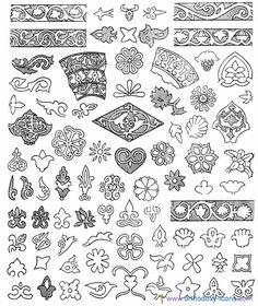 Ornament of the Kazan Tatars. Part VI
