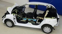 """PSA Peugeot Citroen's """"Hybrid Air"""" powertrain that will debut in vehicles in 2016 combines compressed air energy storage technology with a gasoline powered internal combustion engine (ICE)."""