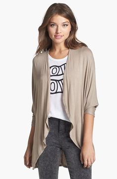 Painted Threads 'Ashley' Open Front Dolman Cardigan (Juniors) available at #Nordstrom