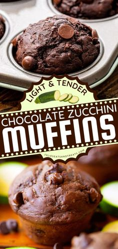 These Chocolate Zucchini Muffins are the perfect on-the-go breakfast muffins everyone will love! This zucchini idea is also the perfect back-to-school recipe for kids. Pin this recipe for later! Best Breakfast Recipes, Sweet Breakfast, Breakfast Muffins, Breakfast Ideas, Recipes Using Fruit, Recipes With Few Ingredients, Quick Bread Recipes, Muffin Recipes, Easy Recipes