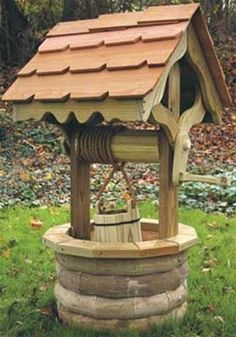 Remember when you where little and your parents told you to through in a penny in a Wishing Well and make a wish? Well, you can do just that with this Wishing Well. The only difference is, it will be in your backyard. Our Wishing Well Woodworking Plan Woodworking For Kids, Woodworking Workbench, Easy Woodworking Projects, Popular Woodworking, Woodworking Furniture, Diy Wood Projects, Woodworking Shop, Woodworking Classes, Wood Furniture