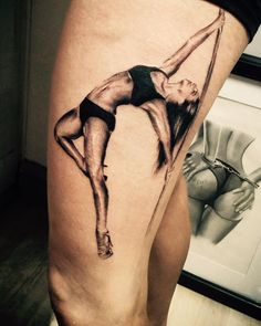 Tattoos of a stripper on a poll phrase matchless