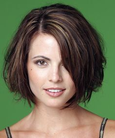 Medium Hairstyle - Straight Casual - | TheHairStyler.com Bob Haircuts, Trendy Haircuts, Casual Hairstyles, Short Hairstyles For Women, Straight Hairstyles, Straight Hair Styles Medium, Short Hair Styles, Straight Bob, Long Bob