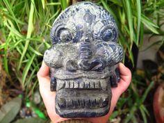 3163g Huge Super Realistic Sodalite Carved Crystal Skull Healing A95