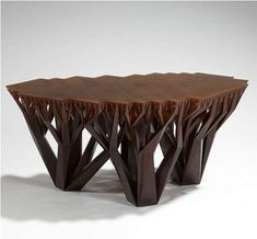 if you love artistic pieces of furniture then you will love fractalmgx artistic wood pieces design