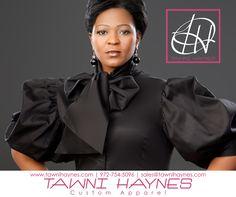 Tawni Haynes Custom Made Black Puff Sleeve Bow Blouse. Tawni Haynes 972-754-5096 www.facebook.com/TawniHaynesCustomApparel