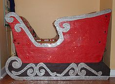 Santa's Sleigh built from a cardboard box
