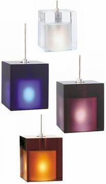 Tech Cube Low-Voltage Halogen Art Glass Pendant Light