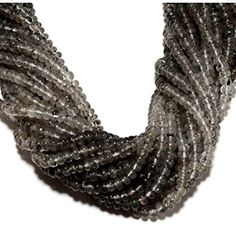 5 Strand Moss Rutile Quartz Beads/Plain Rondelle Beads/4.5mm Rondelle Beads,14 Inches,Wholesale Gemstones - Brought to you by Avarsha.com