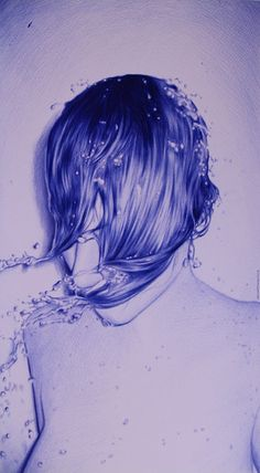 Untiltled, by Juan Francisco Casas - Bic ballpoint pen on paper