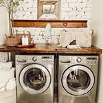 The laundry room of our dreams! Sharing tips on renovating a laundry room as well as laundry room organization ideas. Laundry Room Organization, Laundry Room Design, Laundry Rooms, Organization Ideas, Laundry Closet, Doing Laundry, Small Laundry, Antique Coat Rack, White Wash Brick