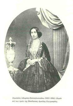 ΗΠηνελόπη Λιδωρίκη – Παπαηλιοπούλου(1831-1904), συγγραφέας, ήταν κόρη του αγωνιστήΑθανάσιου Λιδωρίκη, διετέλεσε κυρία των τιμών της βασίλισσας Ἀμαλίας και έγραψε διάφορα άρθρα στην Εφημερίδα των Κυριών και σε άλλα έντυπα. Το βιβλίο της «Σελίδες τινές της ιστορίας του Βασιλέως Όθωνος» εκδόθηκε ανωνύμως στην Αθήνα (Εκδόσεις Κάρολος Μπεκ 1898) Magazine, Fashion, Moda, Fashion Styles, Magazines, Fashion Illustrations, Warehouse, Newspaper