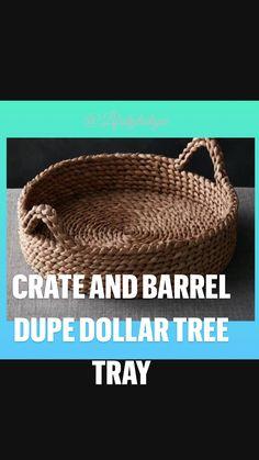 Dollar Tree Decor, Dollar Tree Crafts, Rope Decor, Macrame Wall Hanging Diy, Diy Crafts For Home Decor, Basket Weaving, Rope Basket, Rope Crafts, Boho Diy