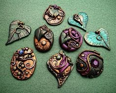 Polymer Clay Jewelry | Polymer Clay Cabochons Fall assortment - by Christina A Kapono from ...