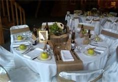 Burlap Runner On Round Table | Show Ad - Decor - Burlap Table Runners & Sashes | Weddingbee