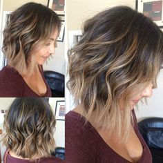Bob hairstyles with bangs cover a wide range of hair lengths and fashion styles. So if your hair is too boring, these colorful bobs will soon enliven you! Trendy Bob Hairstyles with Pony Choppy and Shaggy Bobs are two of… Continue Reading → Bob Hairstyles With Bangs, Wavy Haircuts, Layered Hairstyles, Hairstyles 2016, Summer Hairstyles, Trendy Haircuts, Popular Haircuts, Bob Bangs, Medium Hairstyles With Bangs