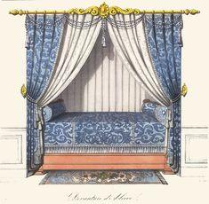 Diy Garden Furniture, Vintage Furniture, Interior Design Sketches, Rococo Style, Bed Styling, Art Design, Upholstery, Doll Stuff, Spring Garden