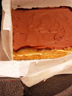 Petits carrés fondants au caramel - Amuses bouche Fondant Au Caramel, Shortbread, Biscuits, Deserts, Menu, Fruit, Tiramisu, Decoration, Food
