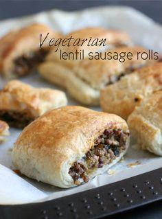 Vegetarian lentil sausage rolls