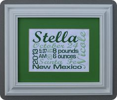 Free-form Script 2 Custom made just for you! Comes in your choice of thread/mat color along with choice of frame color