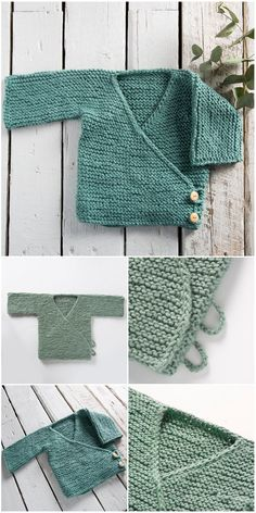 Baby Cute Cardigans Free Knit Patterns - Knitting patterns, knitting designs, knitting for beginners. Baby Cardigan Knitting Pattern Free, Baby Booties Free Pattern, Knitted Baby Cardigan, Knit Baby Sweaters, Knitted Baby Clothes, Baby Knits, Kimono Pattern Free, Baby Clothes Patterns, Baby Patterns