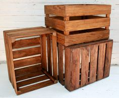 Set Of 2 Full Sized Wood Crate Cubby , Fantastic Storage Solution