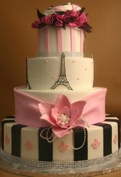 Paris party cake ideas