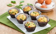Savoury Muffins with Spinach, Tomato and Feta Cheese