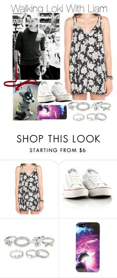 """Walking Loki With Liam"" by onedirection-outfits1d ❤ liked on Polyvore featuring Payne, Converse, Red Herring and Entree"
