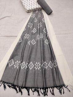 5ab11e43c08 New Ikkat sets in merceraized dupatta with Ikkat cotton top   plain cotton  bottom - Vastra