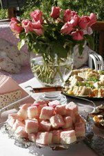 Tea Party-- Everything you need for your tea party. Recipes for tea sandwiches, tea cakes, scones, crumpets, and clotted cream. Fine tea guide, too.