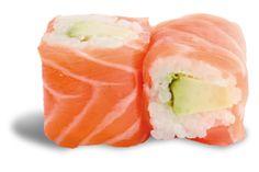 FONDANT AVOCAT 6 PIÈCES  - rouleau de riz enroulé d'un ruban de saumon garni d'avocat et de fromage frais