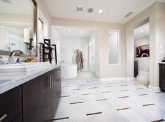 Marvelous master bathroom  #spacious #masterbath #sheahomessocal #irvine  http://www.sheahomes.com/community/sausalito/
