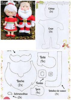 Santa Crafts, Felt Crafts, Felt Diy, Christmas Baskets, Felt Christmas Ornaments, Christmas Diy, Felt Flowers Patterns, Felt Doll Patterns, School Decorations