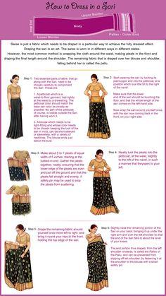 trendy how to wear saree saris ties Sari Hindu, Indian Attire, Indian Wear, India Fashion, Asian Fashion, How To Wear A Sari, How To Drape Saree, Indian Dresses, Indian Outfits