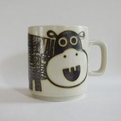 Hippo John Clappison Hornsea Mug Hornsea Pottery, Pottery Mugs, Pyrex, Cutlery, Cups, Porcelain, Dishes, Cool Stuff, Tableware