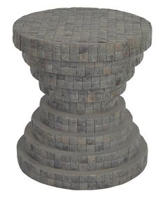 Another great find on #zulily! Smoke Gray Teak & Stone Side Table #zulilyfinds