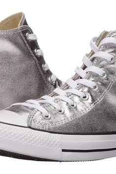 Converse Chuck Taylor All Star Metallic Canvas Hi (Gunmetal/White/Black) Athletic Shoes - Converse, Chuck Taylor All Star Metallic Canvas Hi, 153177F, Footwear Athletic General, Athletic, Athletic, Footwear, Shoes, Gift, - Street Fashion And Style Ideas
