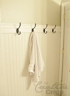 Instead of a towel bar.... with the high beadboard that I like. Addition to my downstairs bath???