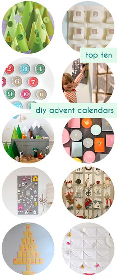 Top 10 DIY Advent Calendars - modern options for your holiday decor! #christmas #kids #diy smallforbig.com
