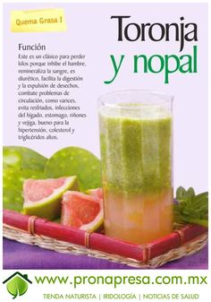 Jugo Natural de Toronja y Nopal: Quema grasa I