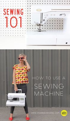 How to Sew and How to use a Sewing Machine on MADE Everyday with Dana Willard Sewing 101