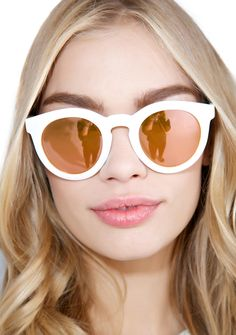Crap Eyewear The White TV Eye Sunglasses look like a perfect show. These…